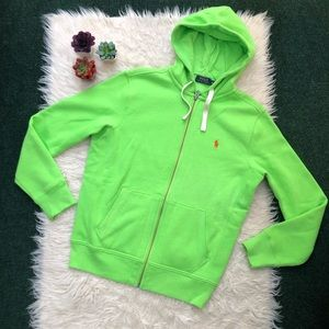 Polo Ralph Lauren Bright Green Hooded Sweatshirt
